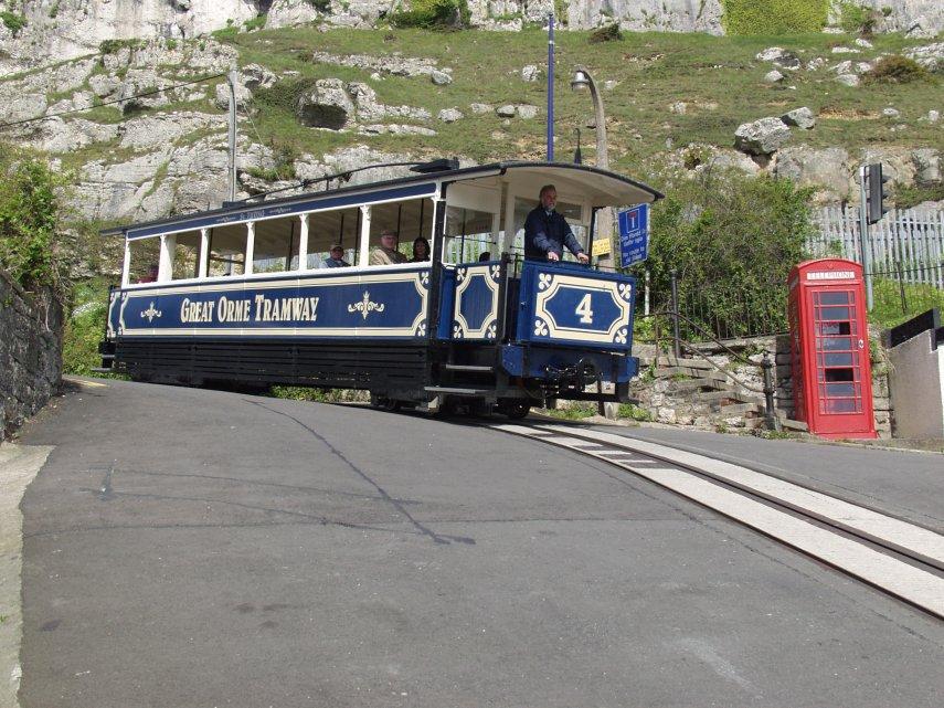 Tram in Llandudno North Wales